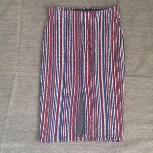 ZARA Striped Pencil Skirt multicolour - Size S
